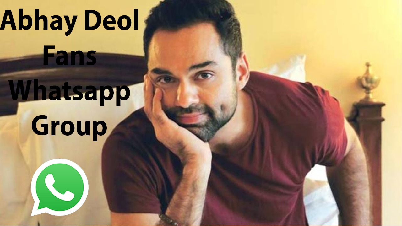 Abhay Deol Fans Whatsapp Group Link