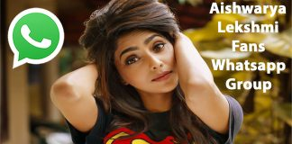 Aishwarya Lekshmi Fans Whatsapp Group Link