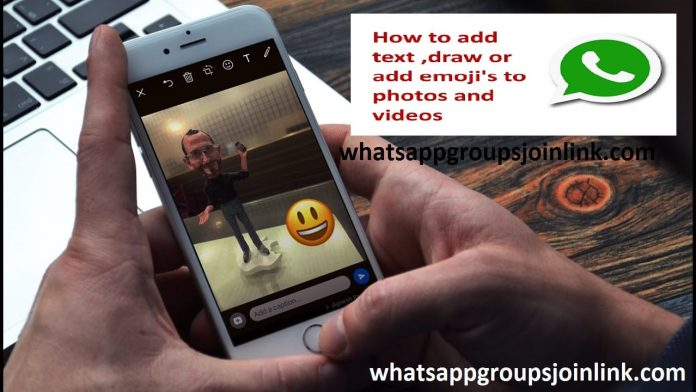 How to Add Emoji on Pictures or Videos in WhatsApp