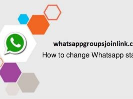 How to change status message in whatsapp?