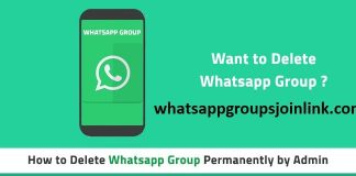 How to delete whatsapp group as an admin?