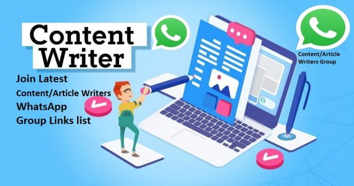 Join Latest 100+ Content/Article Writers WhatsApp Group Links list