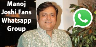Manoj Joshi Fans Whatsapp Group Link