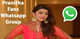 Pranitha Fans Whatsapp Group Link