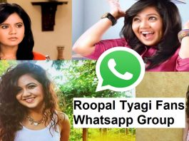 Roopal Tyagi Fans Whatsapp Group Link