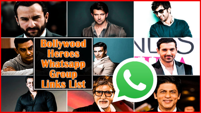 Join Bollywood Heroes Whatsapp Group Links List