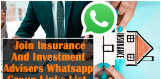 Join Insurance And Investment Advisers Whatsapp Group Links List