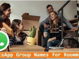 WhatsApp Group Names for Roommates